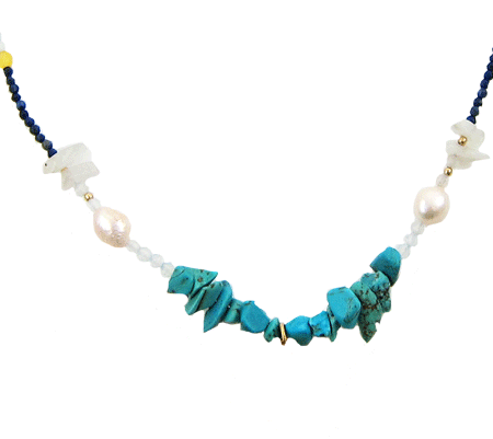 true colors ketting parel turquoise
