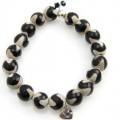 Heart Agaat Tibet zwart wit zilver armband 02