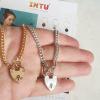 sacred heart lock kettingen zilver