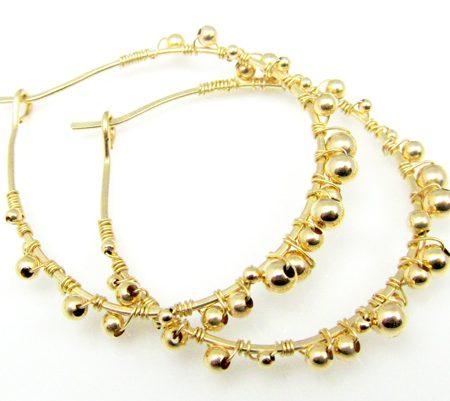 Golden hoops 14 karaat goud oor ringen