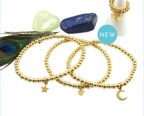 Nieuw! Gold filled gouden symbool ringen en armbanden