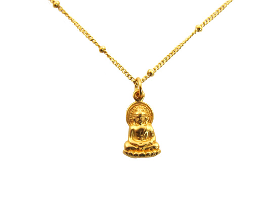 buddha ketting goud