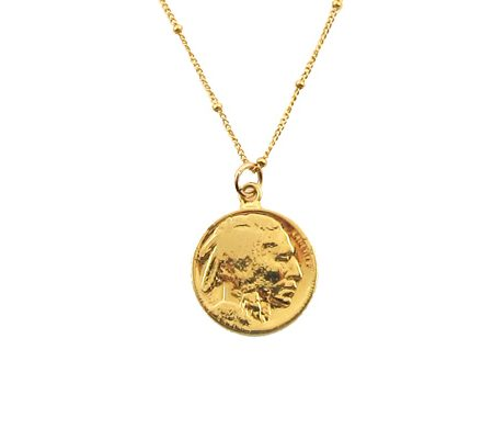 indian buffalo ketting goud