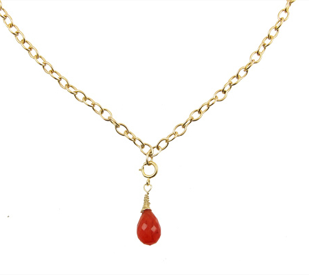 Happy Goldfilled Carneool ketting