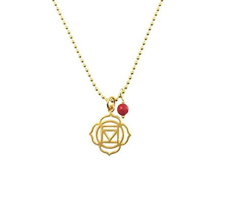 basis chakra goldfilled ketting