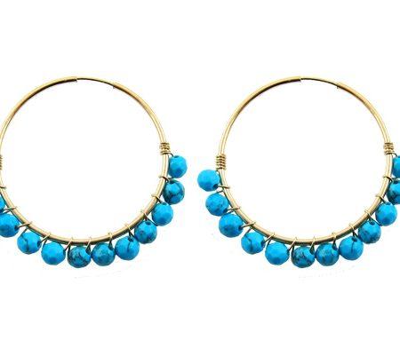 chakra oorbellen turquoise