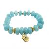 goldfilled-eye-blauwe spons kwarts- armband