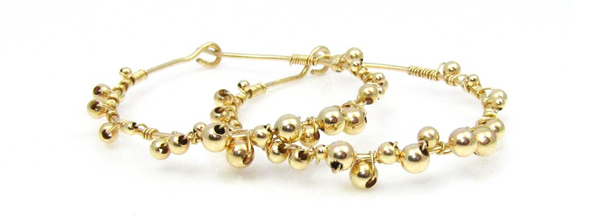 fine gold oorbellen
