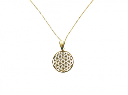 Goldfilled flower of life ketting
