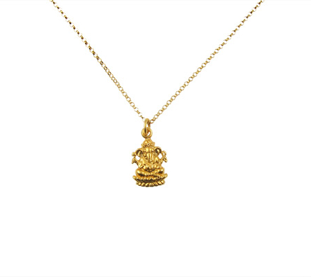 ganesha ketting gold filled