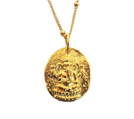 ganesha goldfilled ketting