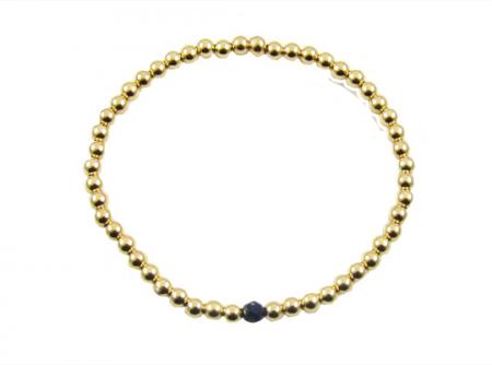 goldfilled armband lapis lazuli