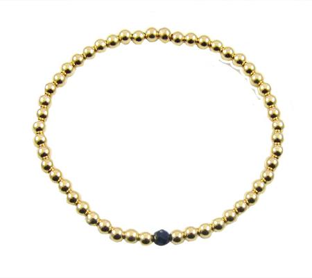 gold filled armband lapis lazuli
