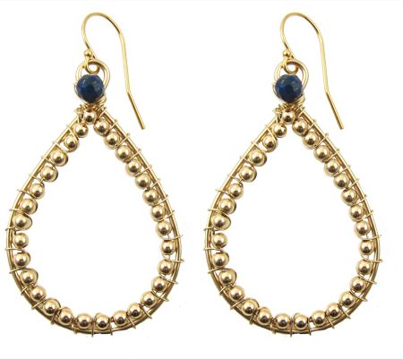 Gold filled Tear Drops Lapis Lazuli