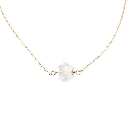 dare to shine herkimer diamant ketting