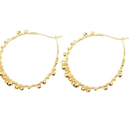 goldfilled hoops