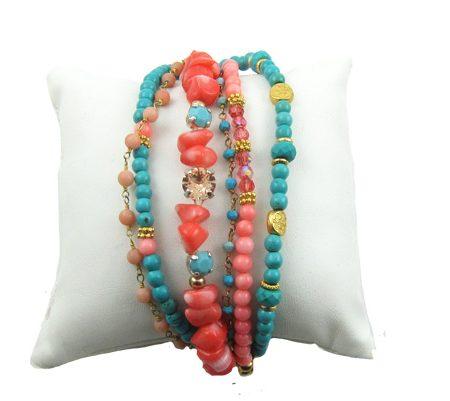 illuminate-armband-coral-turquoise