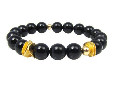 intuition armband onyx goud