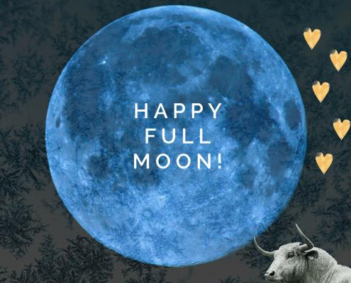 volle blauwe maan