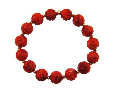 mindful goldfilled koraal armband