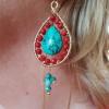 Sacred Cross Earrings Turquoise