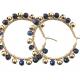 lapis lazuli hoop oorbellen