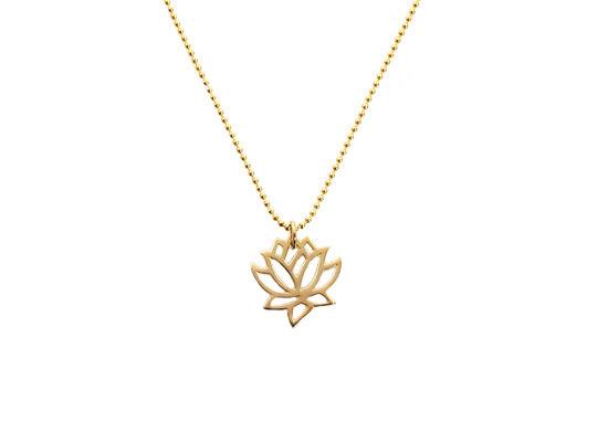 lotus symbool ketting goud