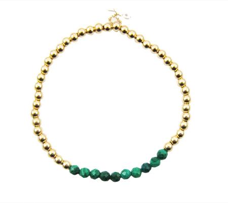 malachiet goldfilled armband