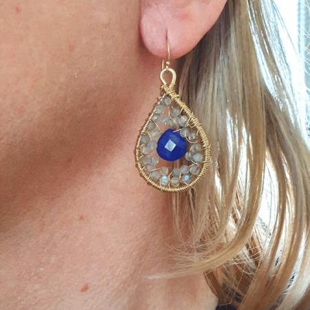 Lapis Lazuli Labradorite Tear Drops