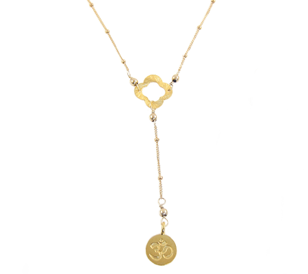 ohm clover ketting goud