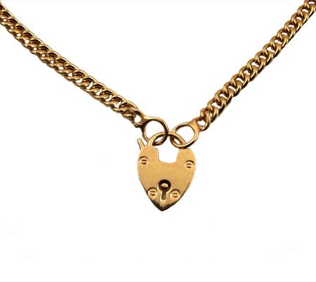 sacred heart ketting verguld goud
