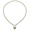 sacred heart ketting zilver