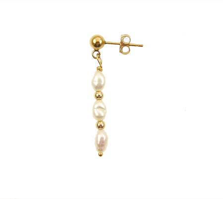 Single Earring Three Pearls