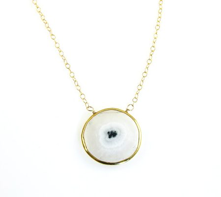solar kwarts eye goldfilled ketting