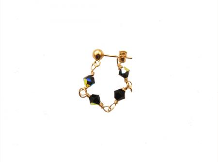 sparkling love single earring