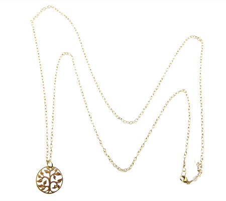 tree of life ketting gold filled goud
