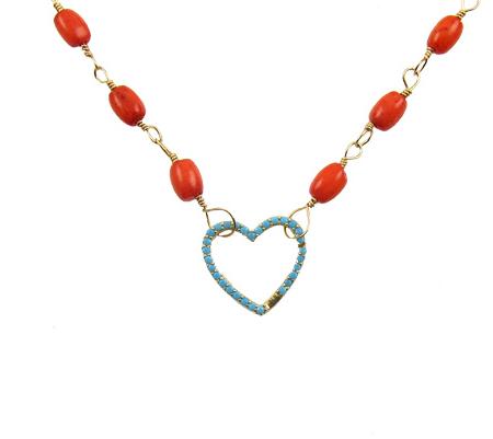 heart centered ketting koraal