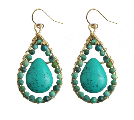 turquoise-edelsteen-goldfilled-teardrops