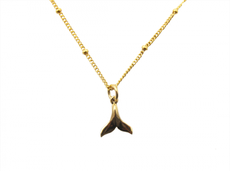wale tail ketting gold filled goud